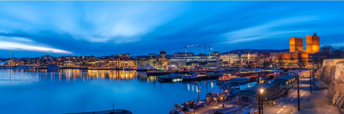 Oslo panorama notturno