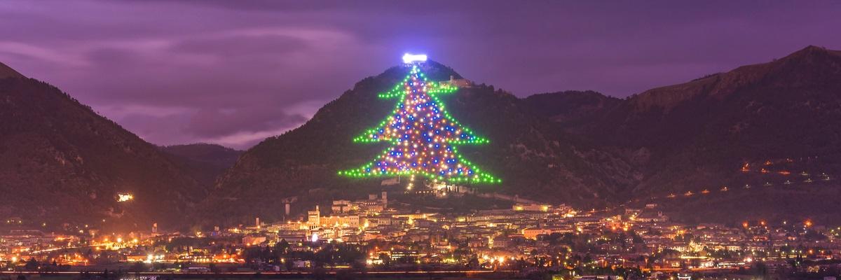 Umbria, Gubbio Albero di Natale
